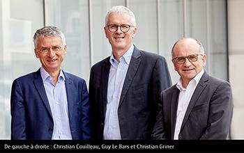 De gauche à droite : Christian Couilleau, Guy Le Bars et Christian Griner